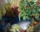 "Monika Rosen, ""Central Park Oasis"", acrylic on canvas, 24"" x 30"" (SOLD)"