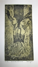 """Eve from Adam, Adam from Eve"", varied edition copper plate etching, November 2010"