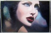 "Monika Rosen, ""In the face of"", oil on canvas, 4' x 6', April 2012"