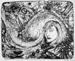 """Monika Rosen. """"Renewal"""", stone lithograph, 16"""" x 22"""", 2012"""