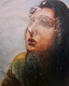 "Eisoptrophobia II, oil on canvas, 30"" x 24"""