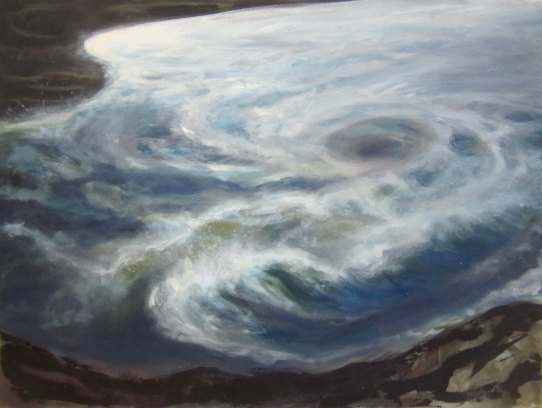 "whirlpool, oil on canvas, 30"" x 40"""