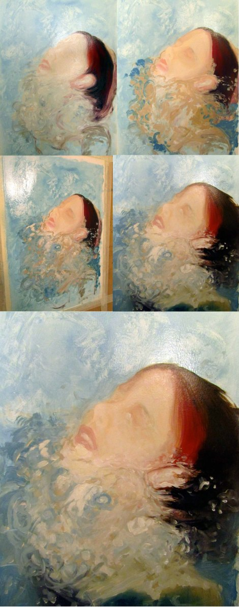 Process shots of a new painting!