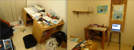 As it gets closer to Open Studio, it will get messier before it gets clean.