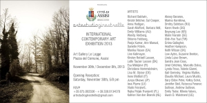 Assisi Exhibition 2013, invitation flyer