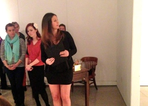Giving a talk on the opening night at the Union Gallery