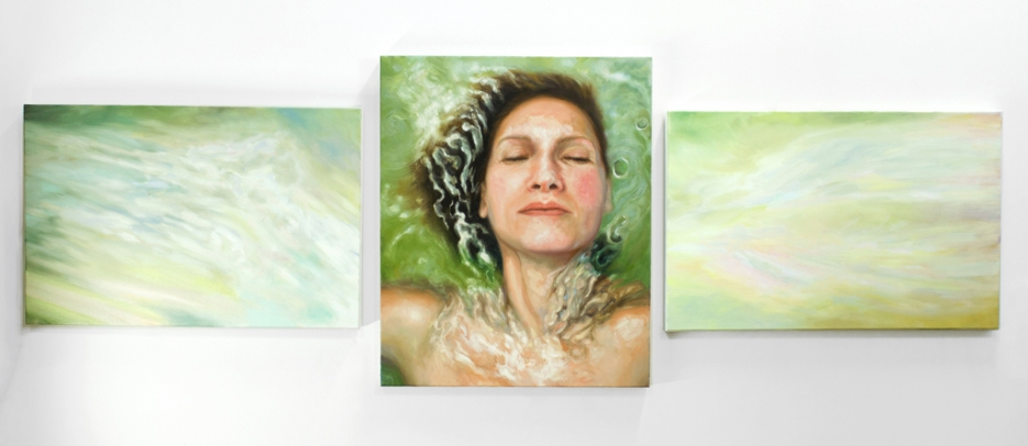 As Within, So Without (Triptych), oil on canvas